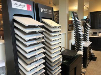 Silestone and Dekton by Cosentino countertops display in showroom located in University Place, WA