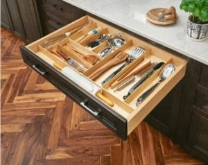 Cabinets Tacoma WA with drawer organizer tray