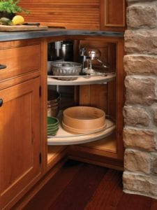 Tacoma WA Cabinets with lazy susan by Medallion Cabinetry