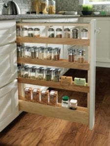 Tacoma WA Cabinets with pull out spice rack