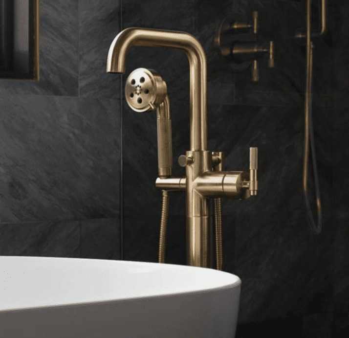 Brizo tub filler for bathroom remodel in Tacoma WA