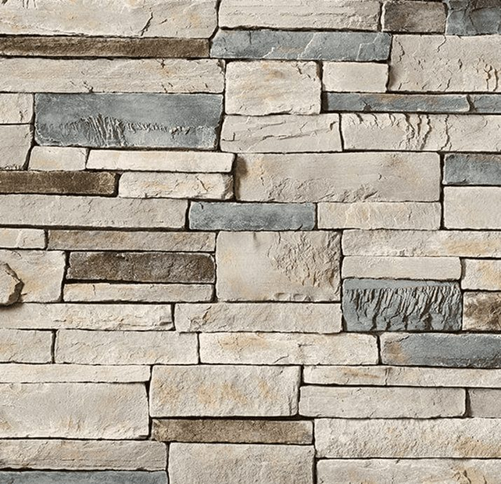 ledgerstone and stacked stone for fireplace design in University Place WA